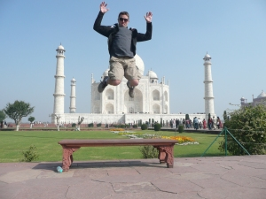 The tour guides in India get really into taking various crazy types of pictures. I'll have to admit that this one is pretty entertaining though.